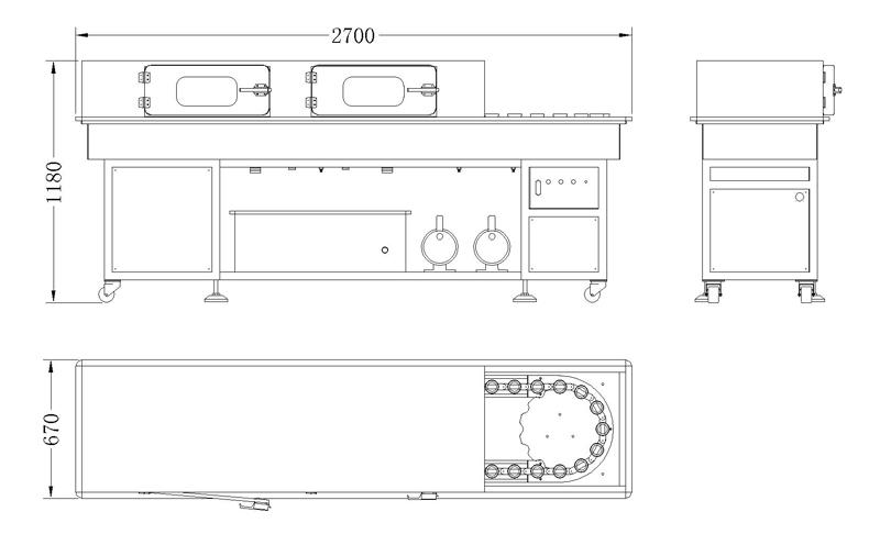 LIR-A Double Line Intermittent Rinser(Button Control)